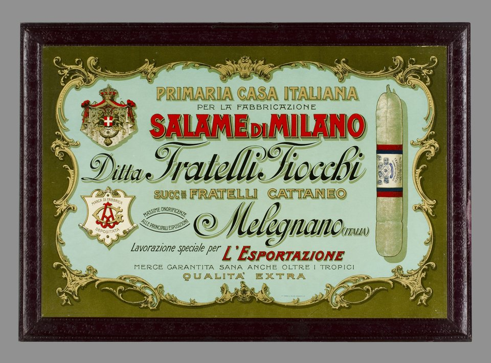 Salame di Milano – Vintage poster –  ANONYME – 1900