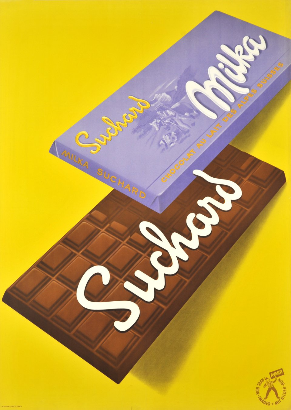 Suchard, Milka – Vintage poster – Paul O. ALTHAUS – 1950