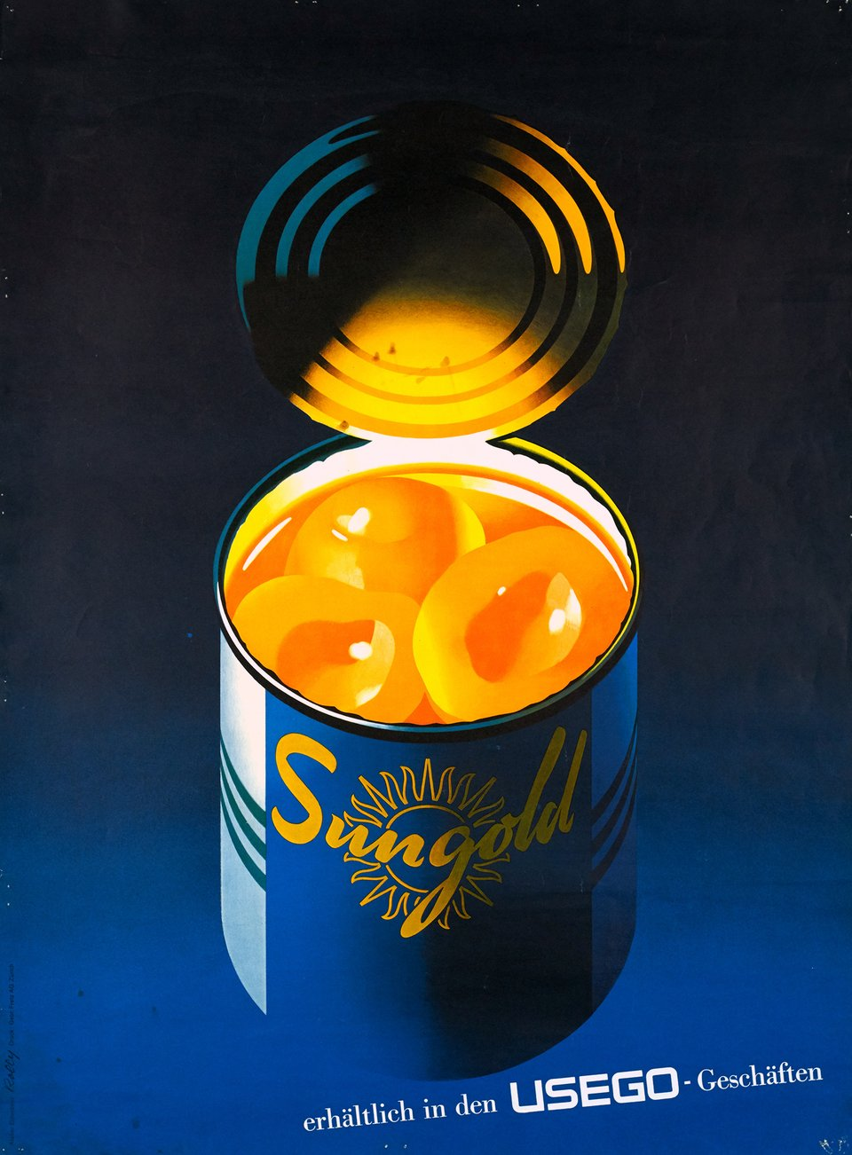 Sungold Usego – Affiche ancienne – HansPeter ROLLY – 1960