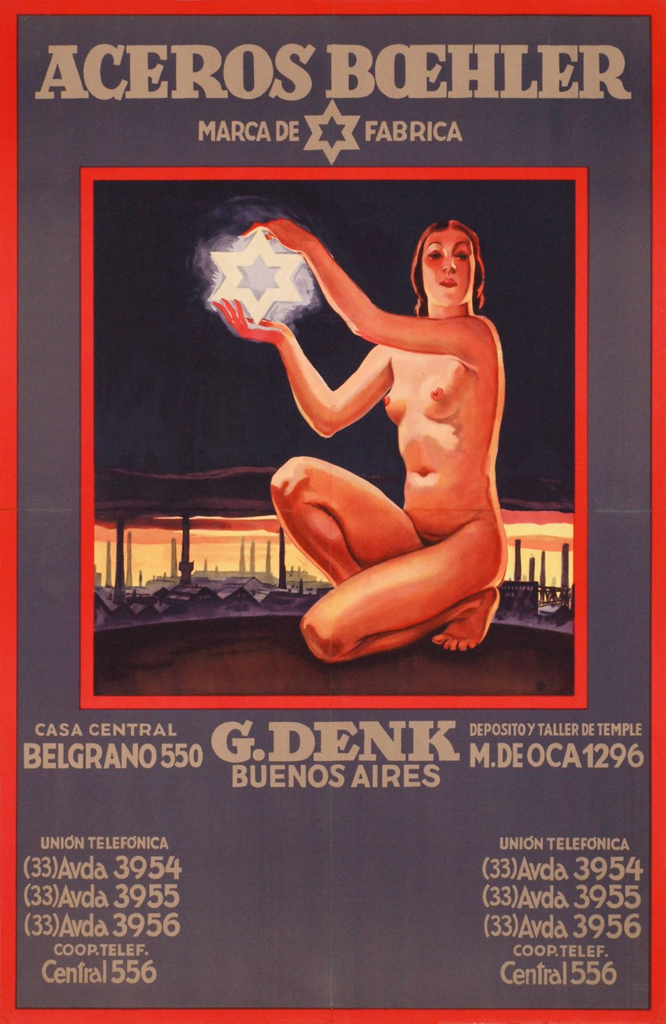 Aceros Boehler - Buenos Aires – Affiche ancienne – ANONYME – 1930