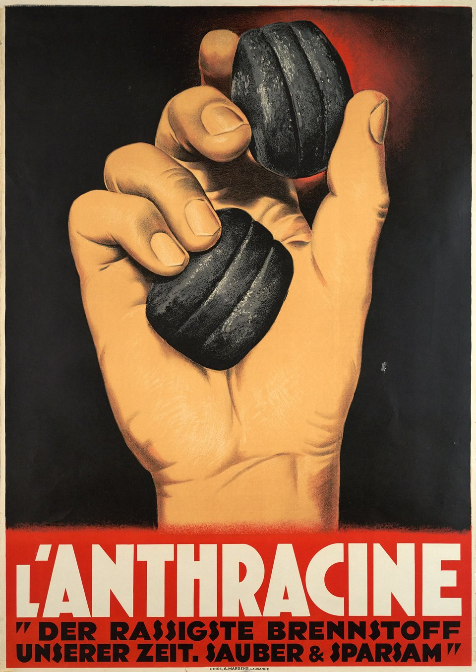 Boulets Anthracine – Vintage poster – ANONYME – 1930