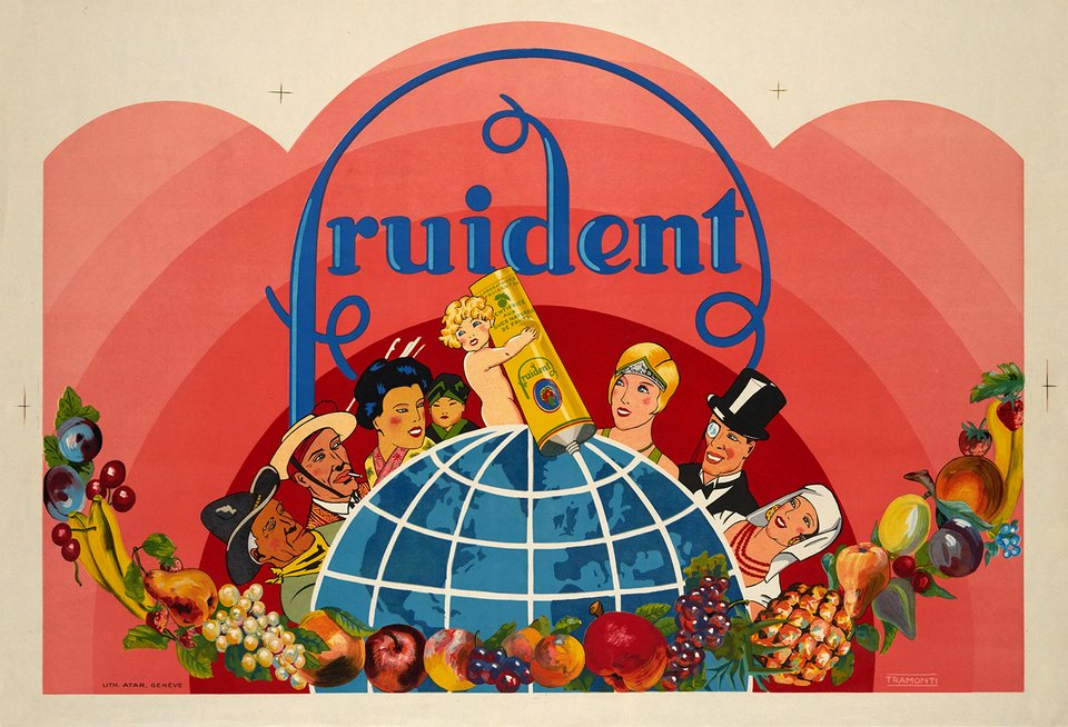 Fruident – Affiche ancienne – TRAMONTI – 1925