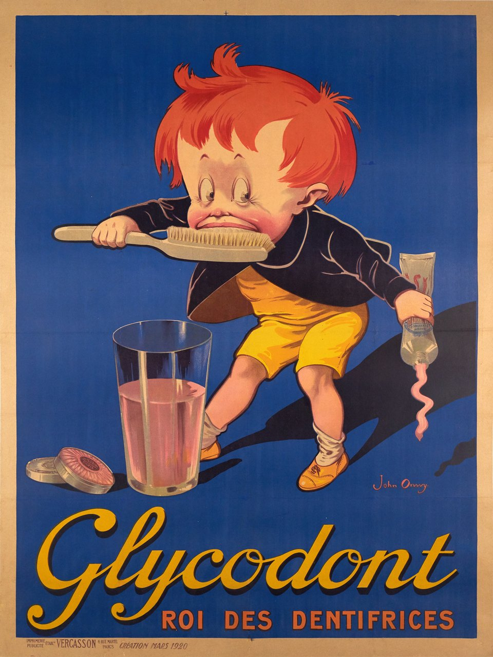 Glycodont, Roi des dentifrices – Vintage poster – John ONWY – 1920