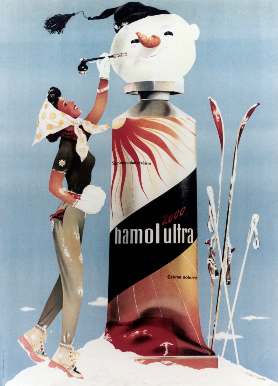 Hamol Ultra 2000, crème solaire – Vintage poster – Herbert LEUPIN – 1941