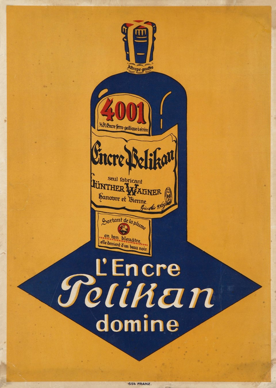 L'encre Pelikan domine. – Vintage poster – ANONYME – 1910