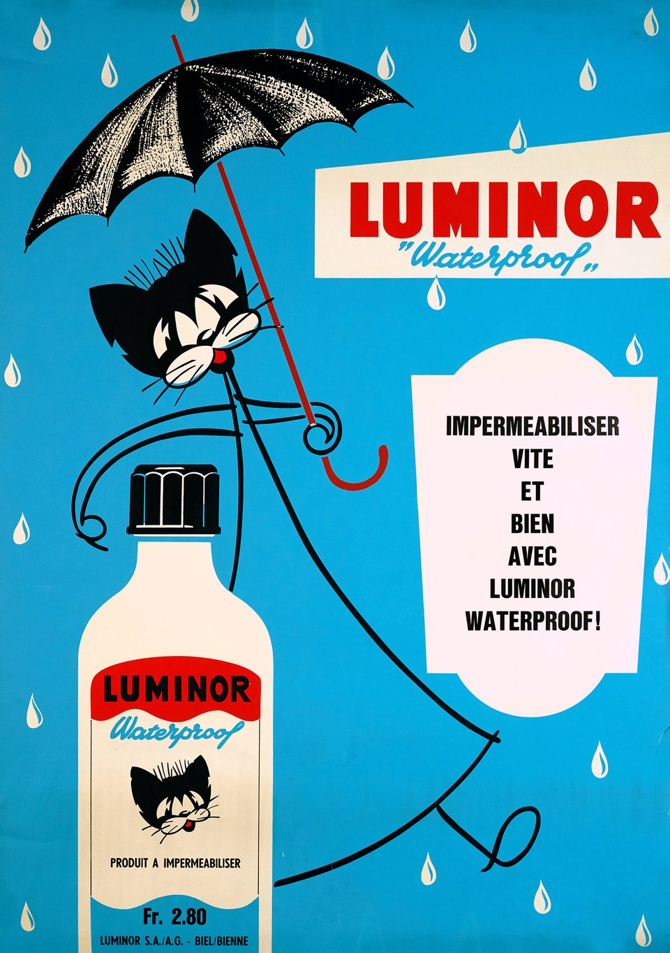 Luminor Waterproof – Affiche ancienne – ANONYME – 1950