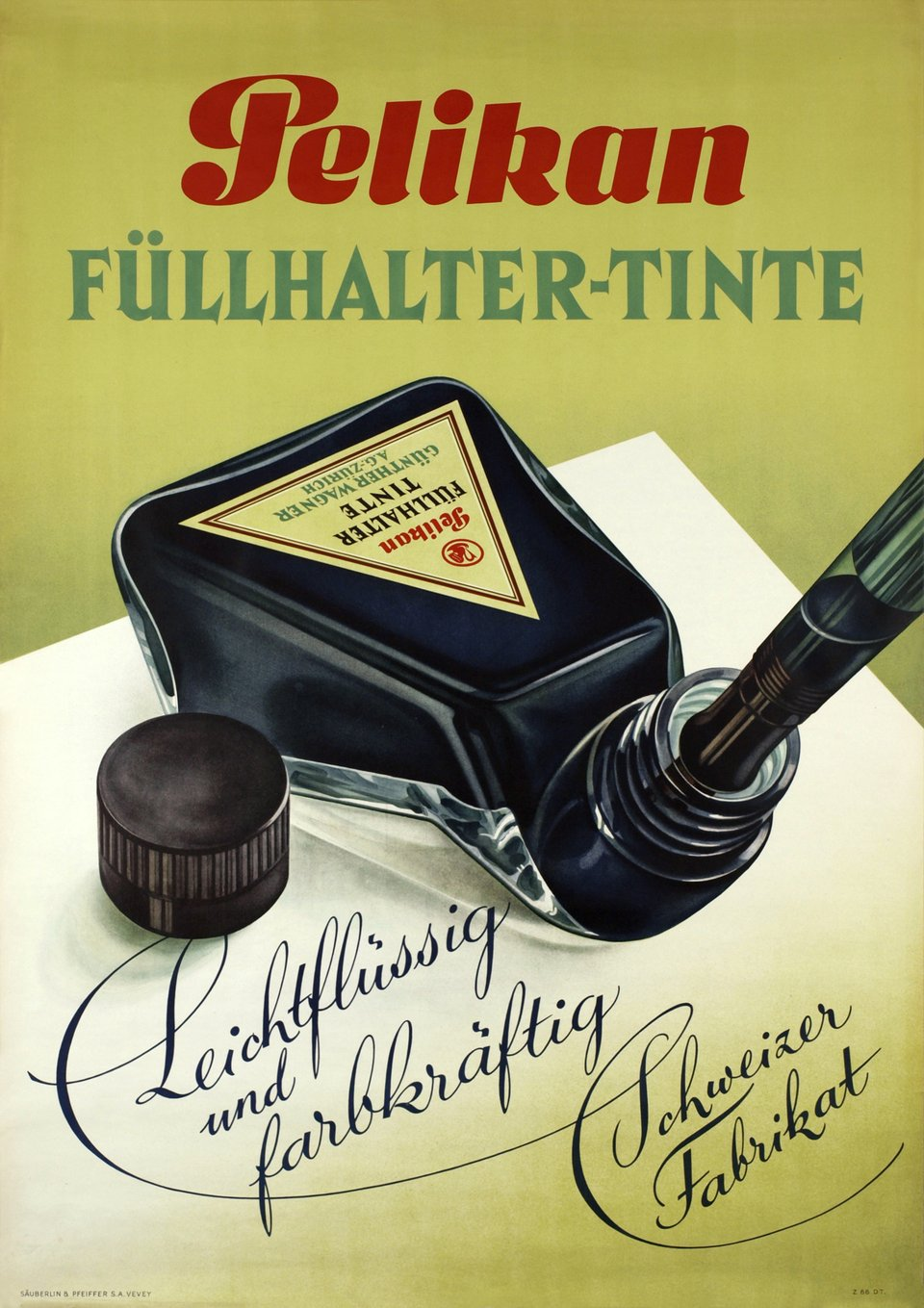 Pelikan Füllhalter-tinte – Vintage poster – ANONYME – 1943