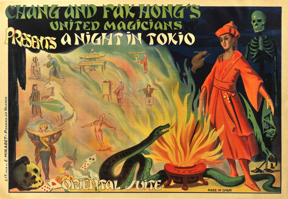 Chang and Fak Hong's United Magicians, A night in Tokio – Vintage poster – ANONYMOUS – 1930