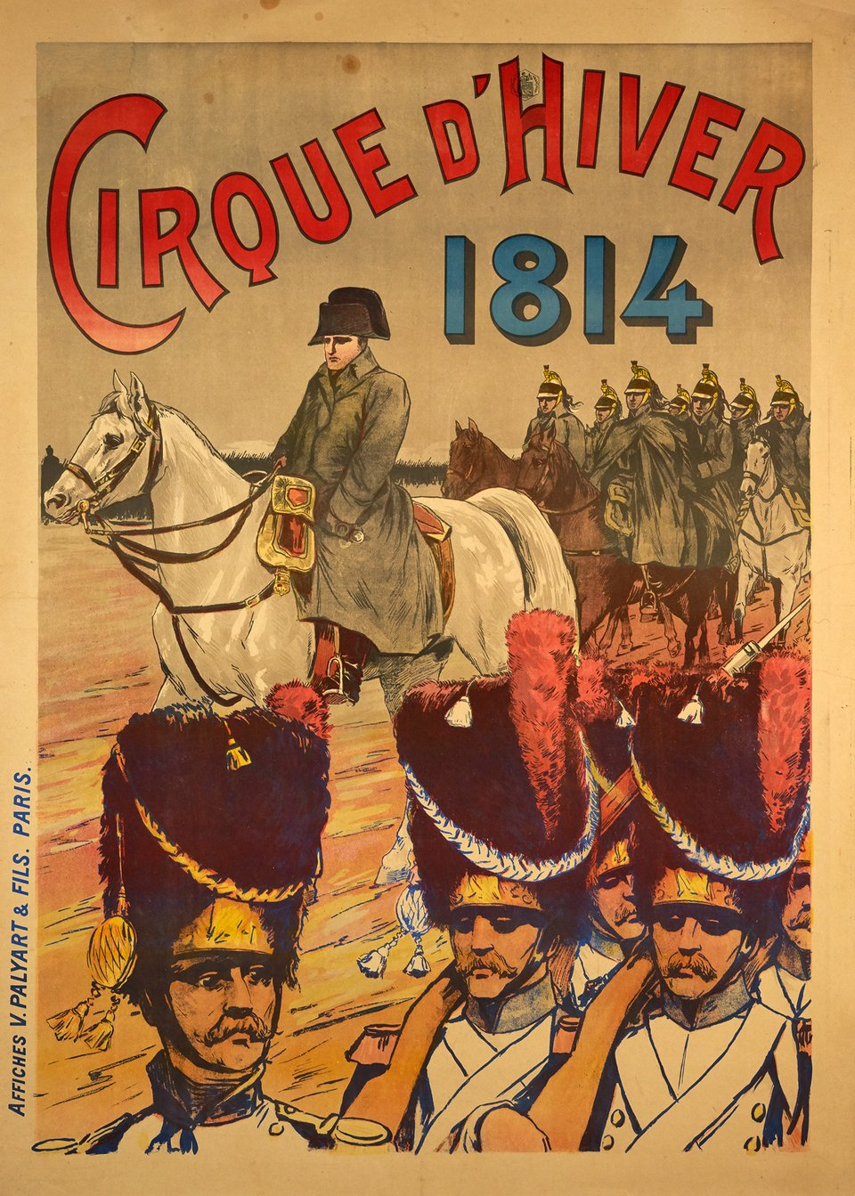 Cirque d'Hiver 1814 – Vintage poster –  ANONYME – 1900