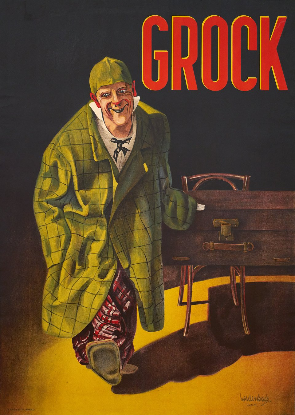 Grock – Vintage poster – Ludwig LEIDENBACH – 1945