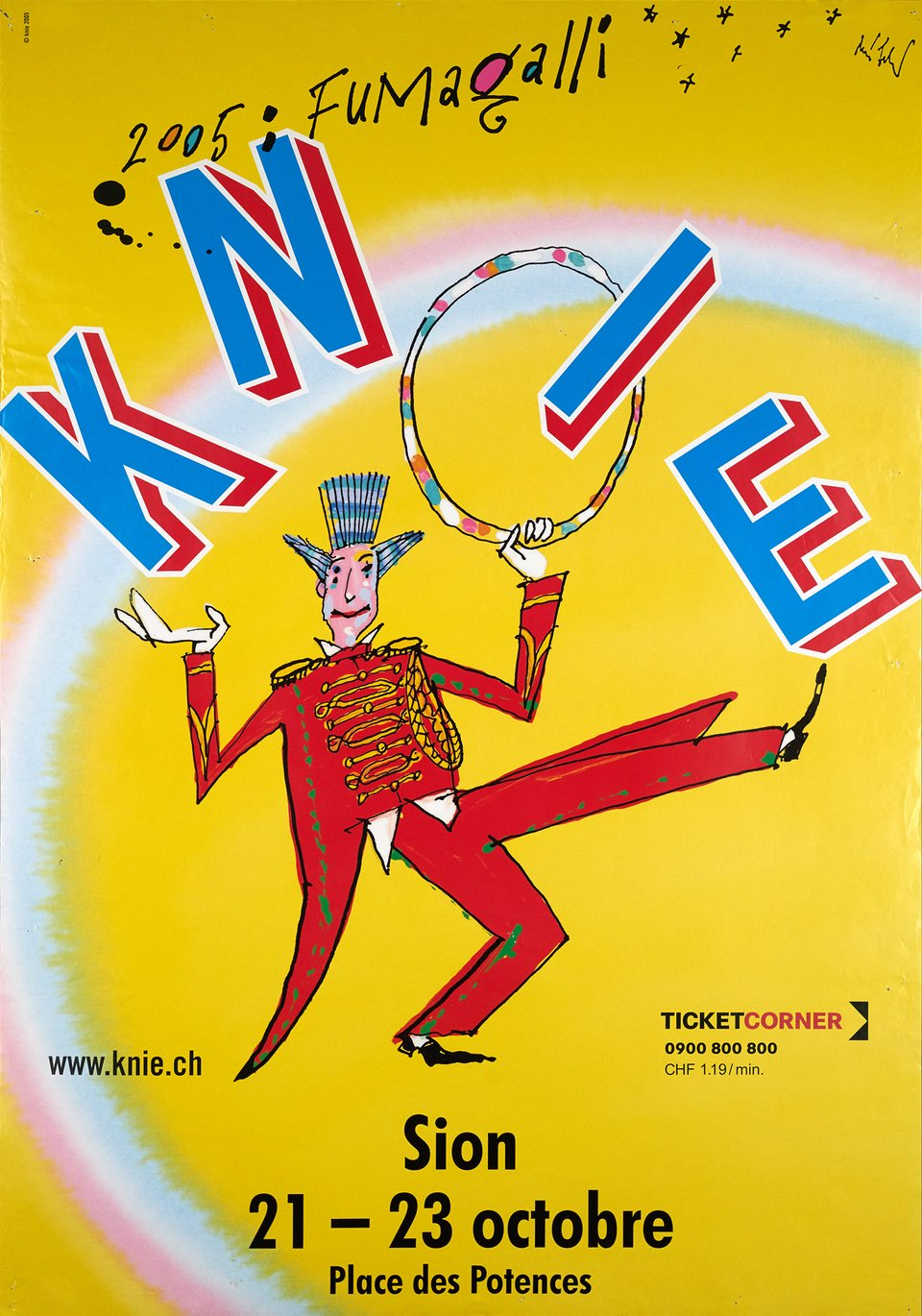 Knie – Vintage poster – ANONYME – 2005