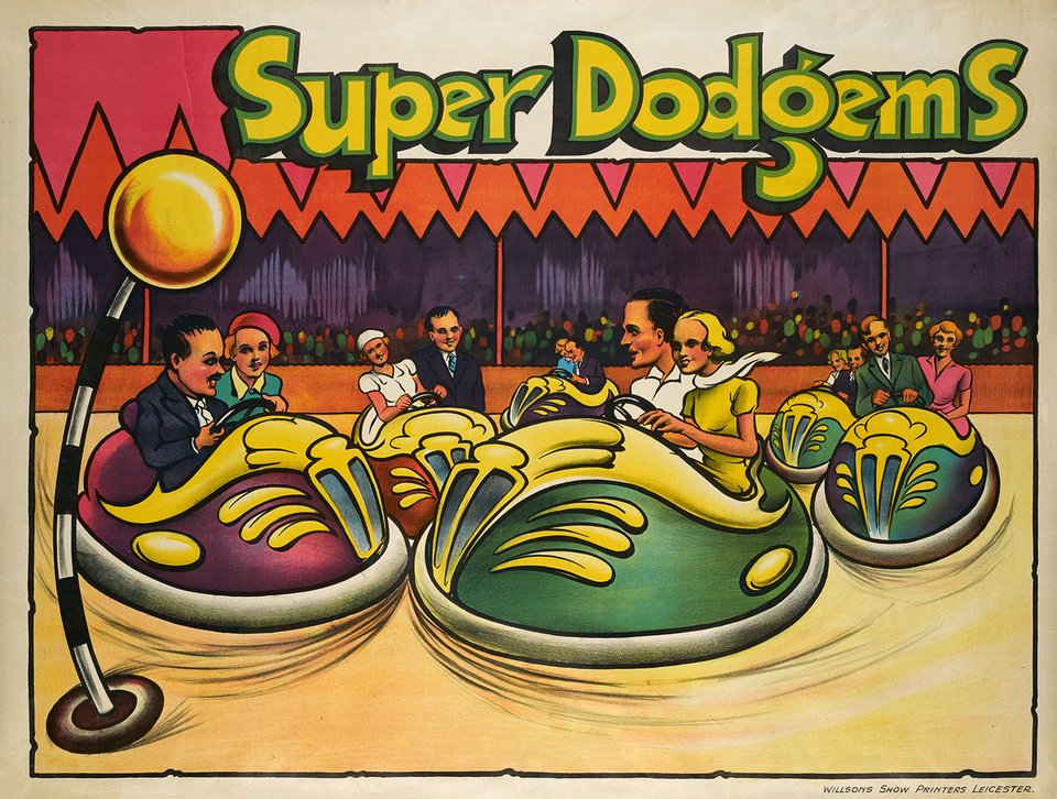 Super Dodgems – Affiche ancienne – ANONYME – 1946