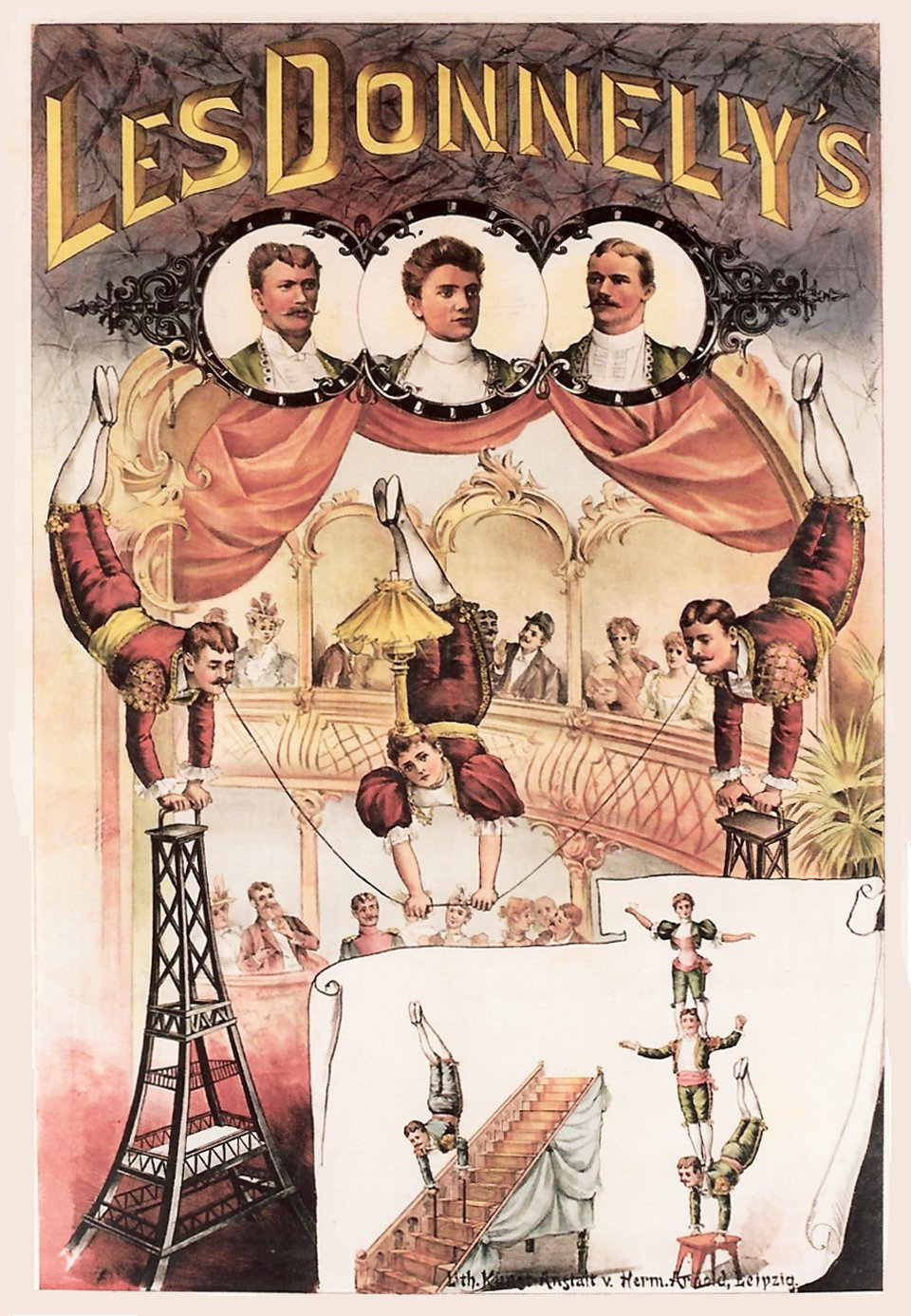 The Donnelly's, Leipzig – Affiche ancienne –  ANONYME – 1900