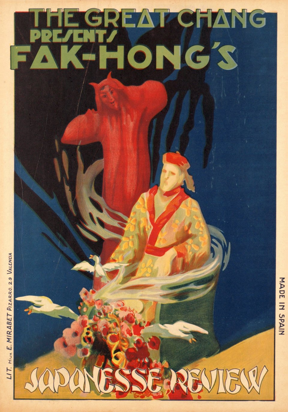 The great Chang presents Fak-Hong's, japanesse review – Affiche ancienne – ANONYME – 1920