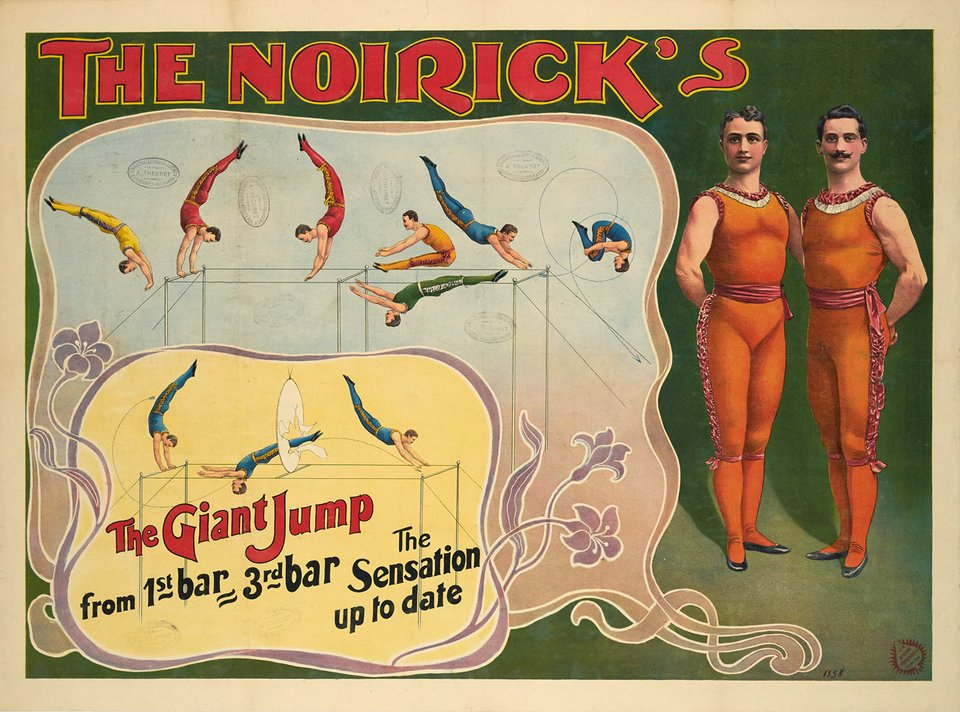 The Noirick's, The giant jump – Affiche ancienne – ANONYME – 1900