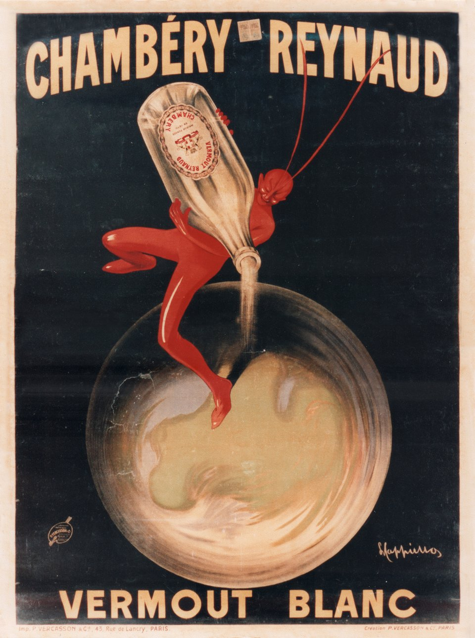 Chambéry Reynaud, vermout blanc – Vintage poster – Leonetto CAPPIELLO – 1910