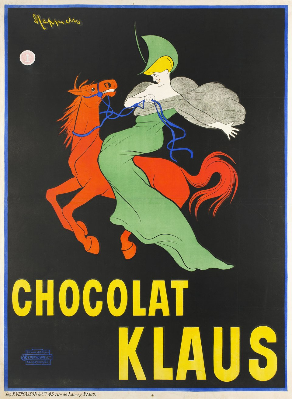 Chocolat Klaus – Affiche ancienne – Leonetto CAPPIELLO – 1903
