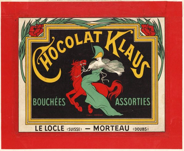 Designed by Leonetto Cappiello Wall Plaque Stupell Industries Chocolat au Lait Vintage European Advertisement 13 x 19 Red