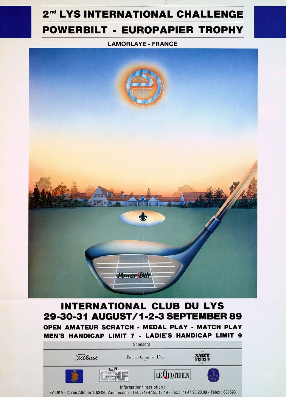 2nd Lys International Challenge Powerbilt - Europapier Trophy – Vintage poster – C. FURBY – 1989