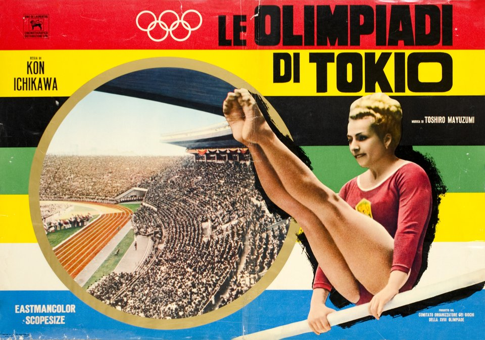 Di Tokio, Olympic Games 1964 Movie – Vintage poster – Kon ICHIKAWA – 1965