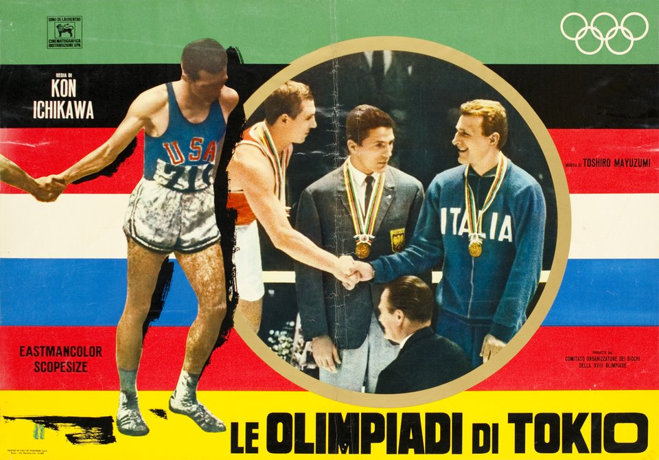Di Tokio, Olympic Games 1964 Movie – Affiche ancienne – Kon ICHIKAWA – 1965