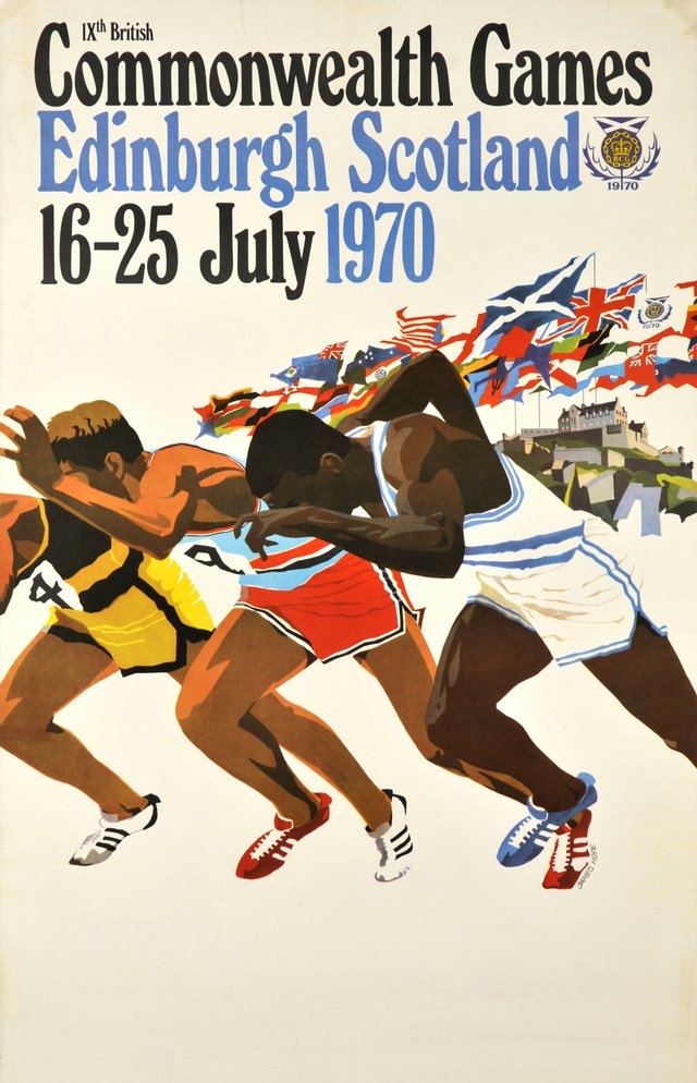 Edinburgh Scotland 1970, 9th British Commonwealth Games