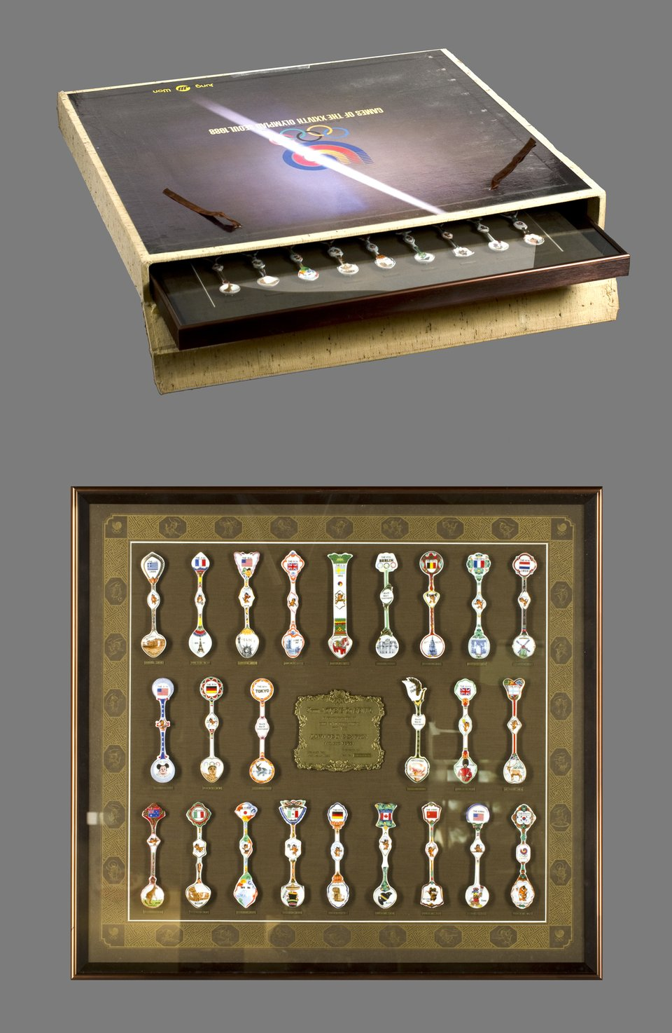 Games of the XXIVth Olympiad - Seoul 1988 (24 spoons) – Vintage poster –  ANONYME – 1988