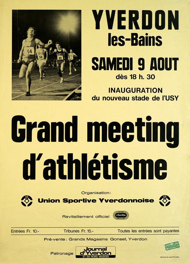 Grand Meeting d'Athlétisme, Yverdon
