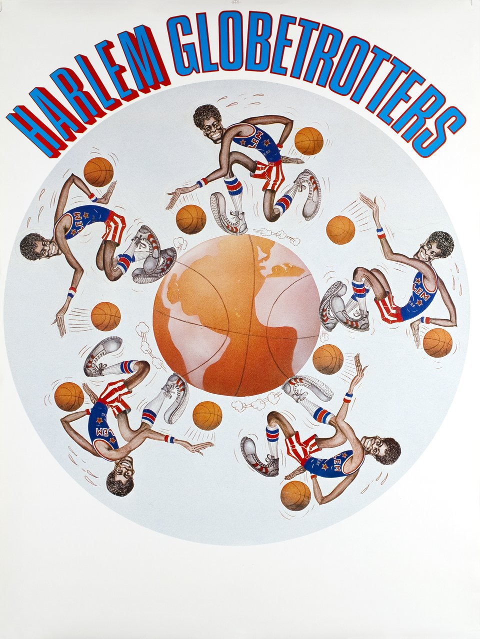 Harlem Globetrotters – Affiche ancienne –  ANONYME – 1985
