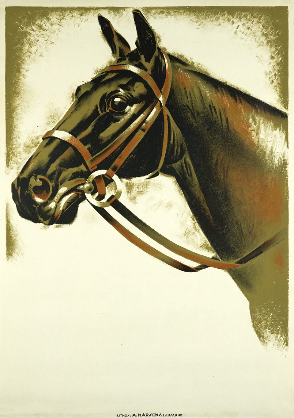 Horse before letter – Vintage poster – ANONYME – 1940