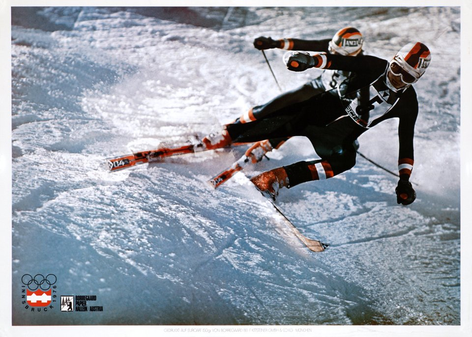 Innsbruck 1976, Winter Olympic Games – Affiche ancienne –  ANONYME – 1976