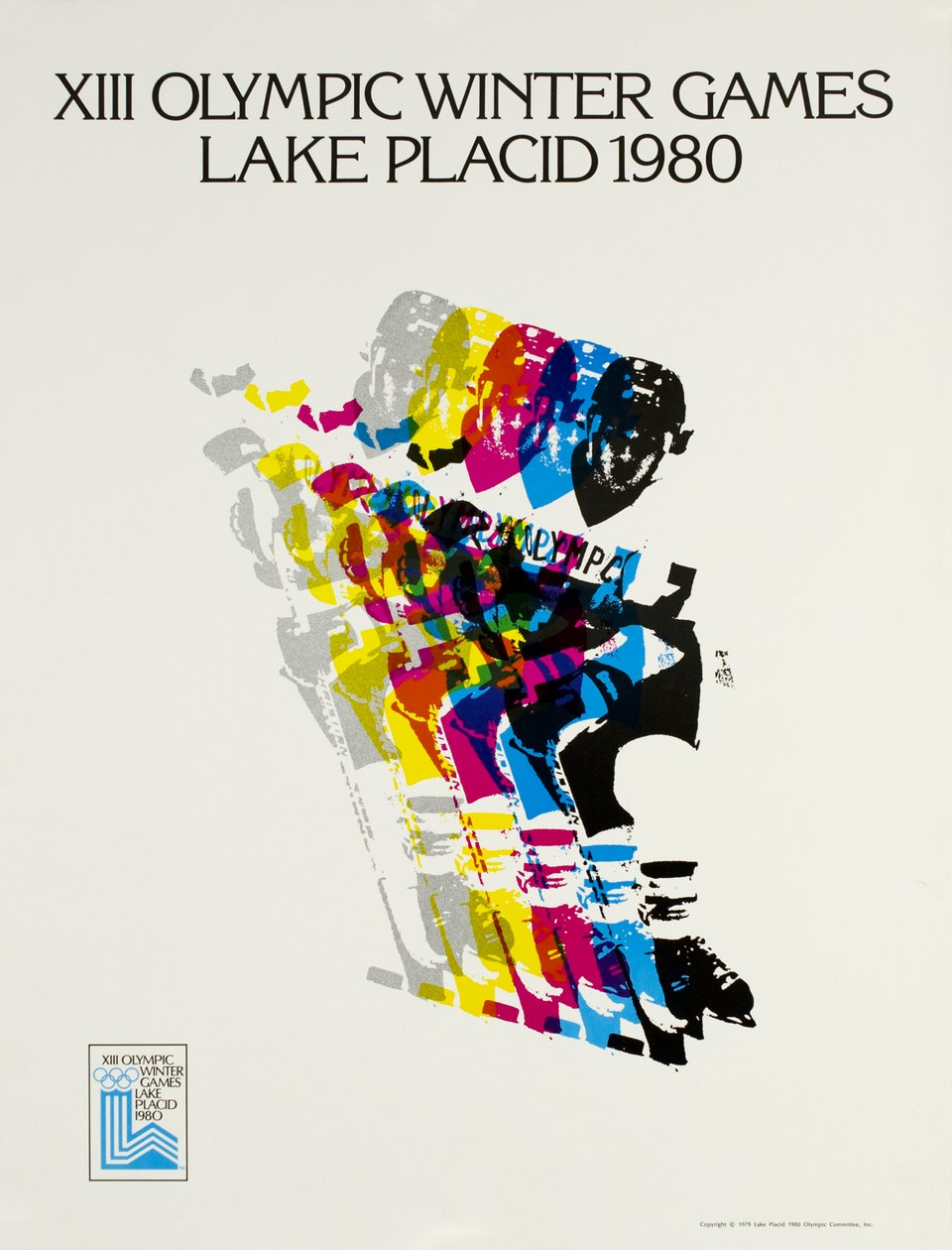 Lake Placid 1980, XIII Olympic Winter Games – Affiche ancienne – Robert MADDEN – 1980