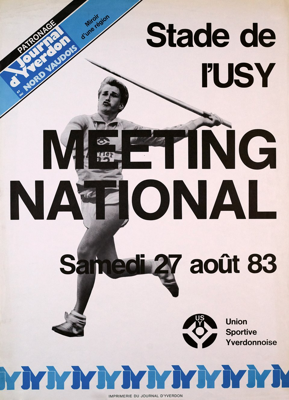 Meeting National, Stade de l'USY – Affiche ancienne –  ANONYME – 1983