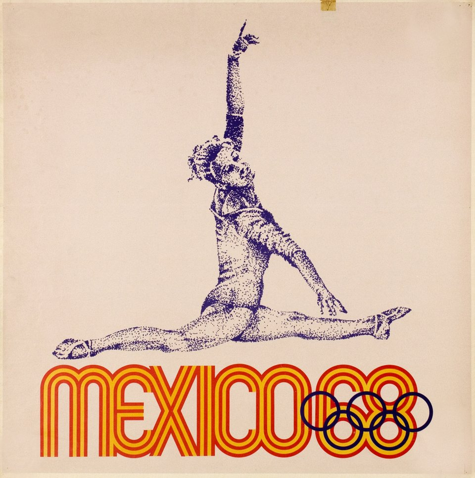 MEXICO 68, Olympic Games – Vintage poster –  ANONYME – 1968