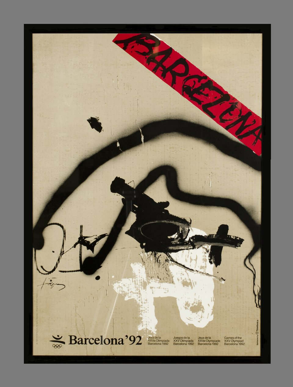 Olympic Games Barcelona 92 – Vintage poster – Antoni TAPIES – 1992