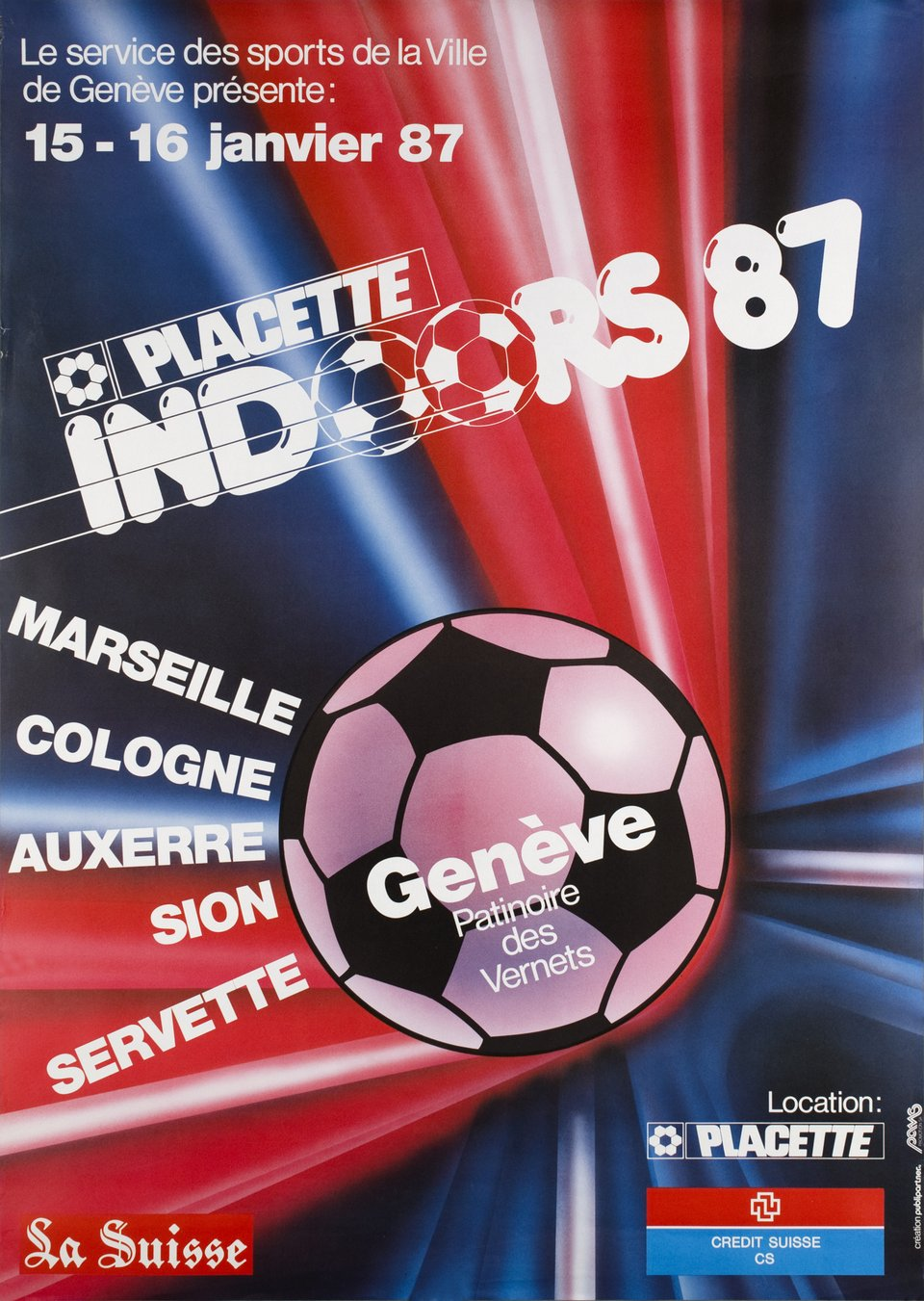 Placette Indoors 86 – Affiche ancienne –  PUBLIPARTNER – 1986