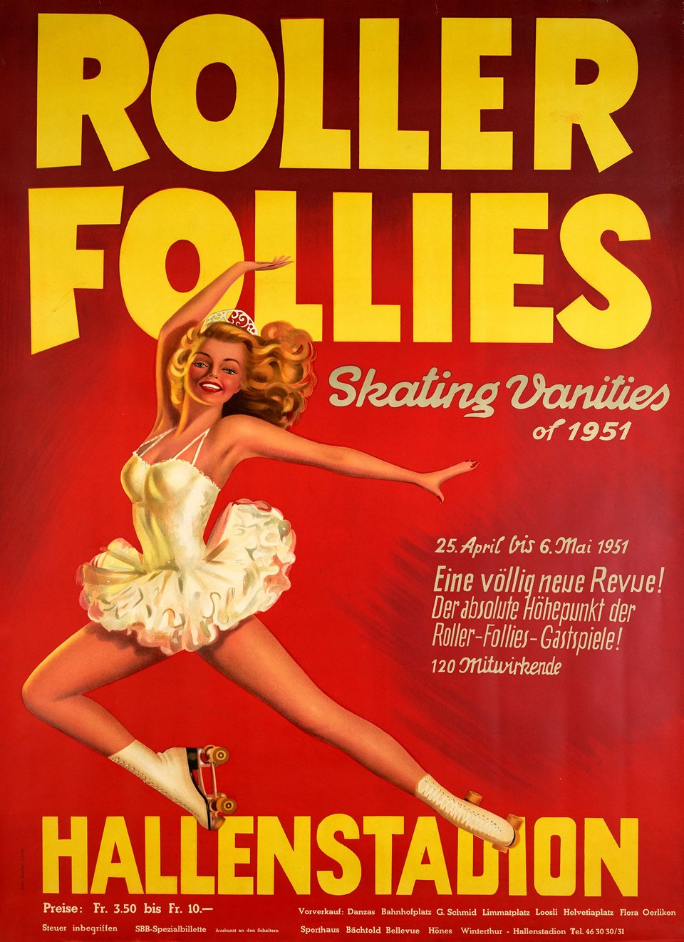 Roller Folies – Affiche ancienne – ANONYME – 1951