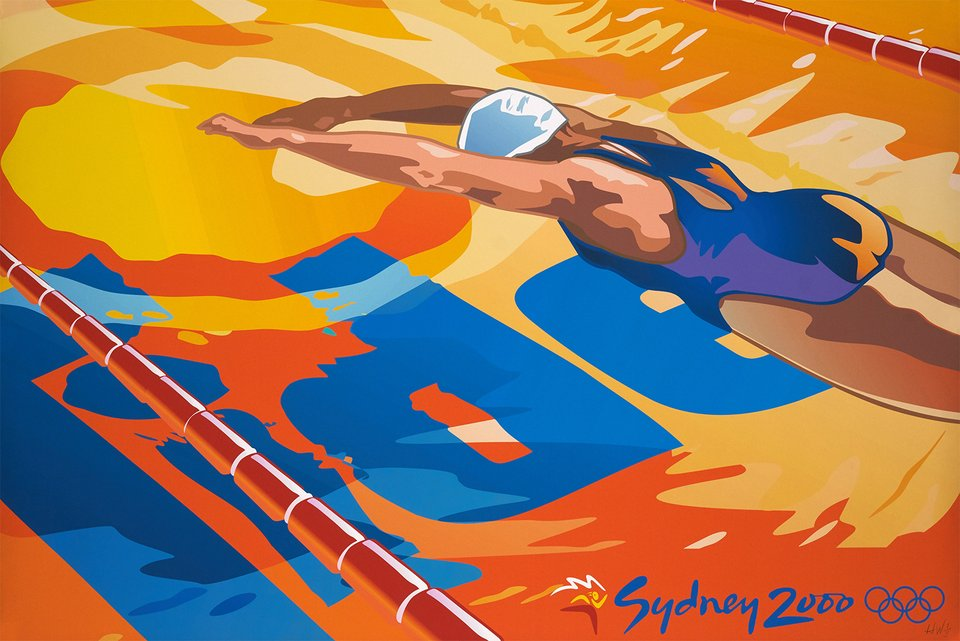 Sydney 2000, Olympic – Vintage poster –  H.W. – 2000