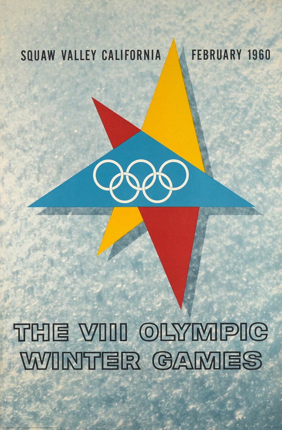 Squaw Valley 1960, The VIII Olympic Winter Games – Vintage poster – ANONYME – 1958