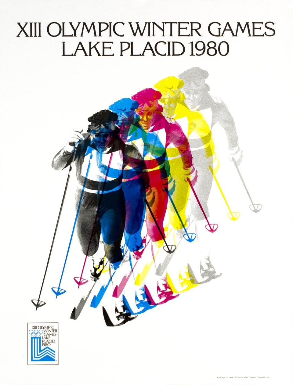 XIIIe Olympic Winter Games Lake Placid 1980 – Vintage poster – Robert MADDEN – 1980