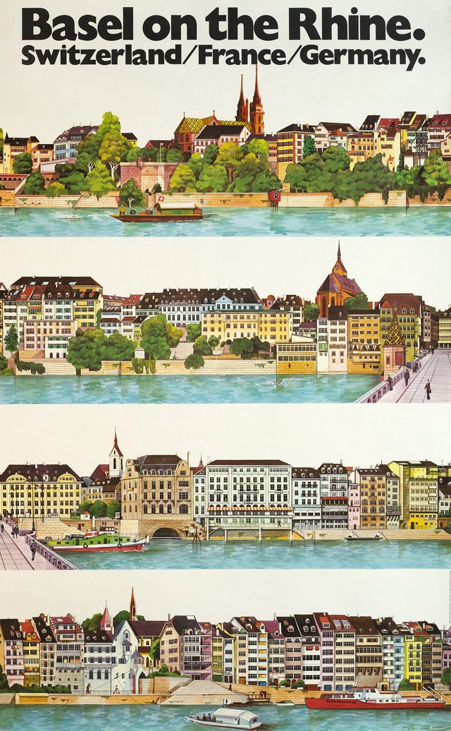 Basel on the Rhine, Switzerland/ France/ Germany