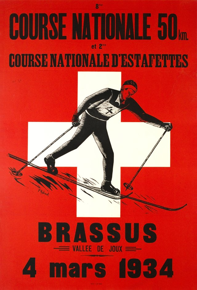 Brassus, 8 eme course nationale d'estafettes 50km, Vallée de Joux - 1934