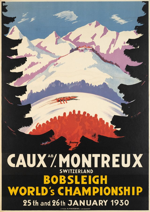 Caux / Montreux Switzerland, Bobsleigh World's Championship, 25th and 26th January 1930