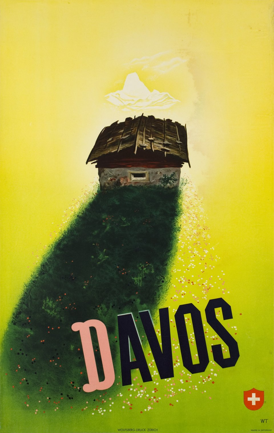 Davos – Vintage poster – Willi TRAPP – 1942