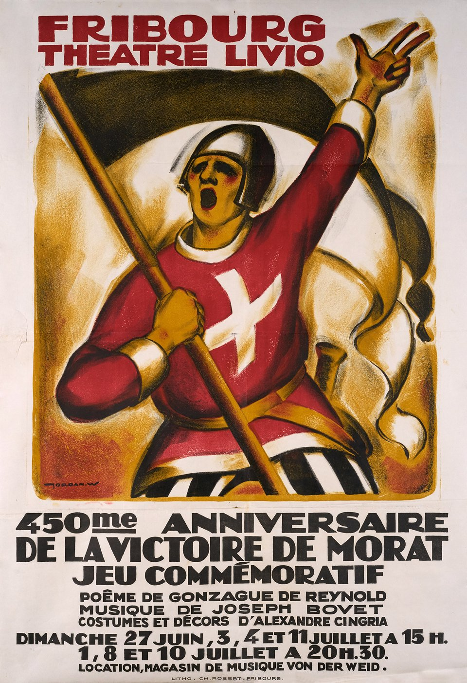 Fribourg Théâtre Livio – Vintage poster – Willy JORDAN – 1926