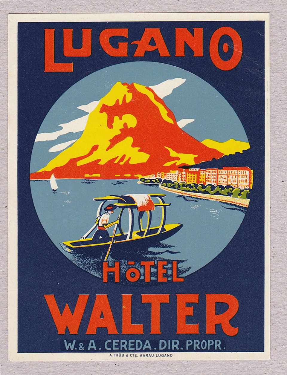 Hotel Walter – Vintage poster – ANONYME – None