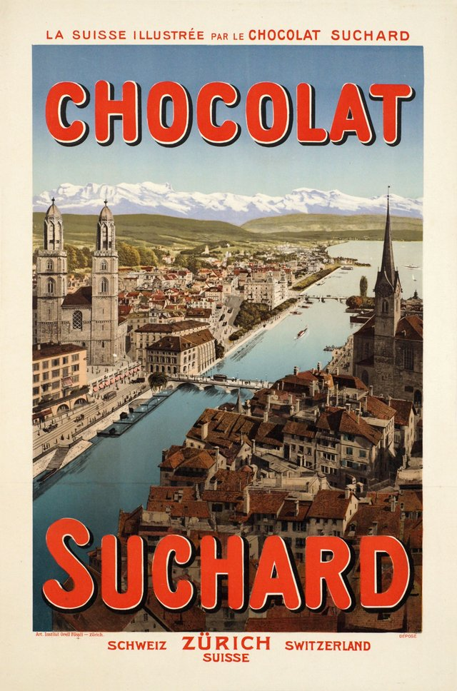 La Suisse illustrée par le Chocolat Suchard, Schweiz Zürich Switzerland