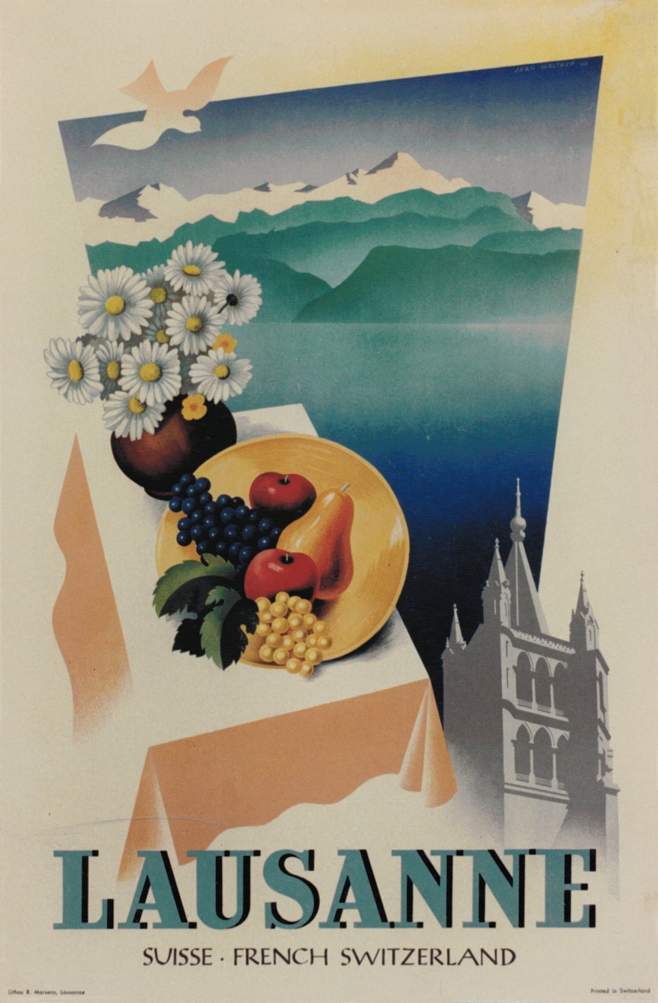 Lausanne – Vintage poster – Jean WALTHER – 1947