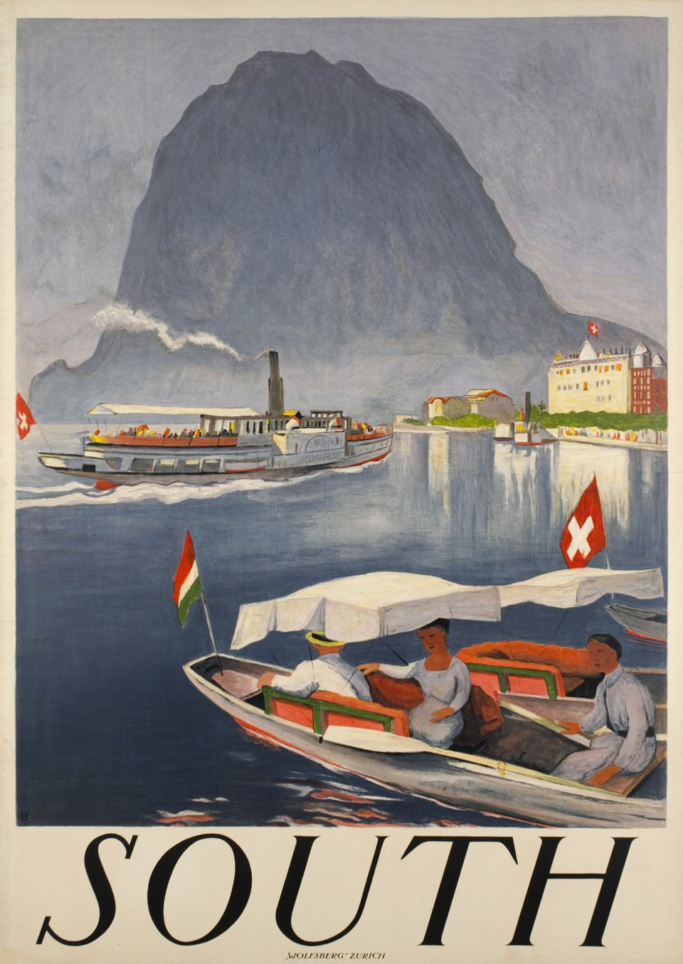 South – Vintage poster – Otto BAUMBERGER – 1924