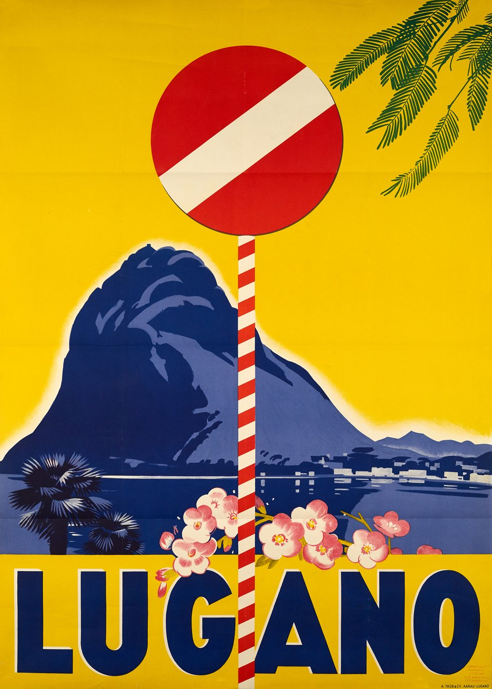 Lugano – Affiche ancienne – ANONYME – 1932